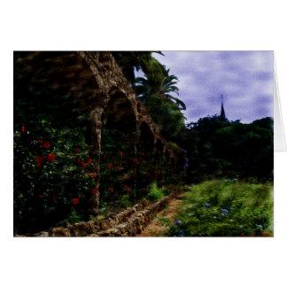 Gaudi Park Notecard Karte