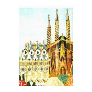 Gaudi 's Barcelona Leinwanddruck