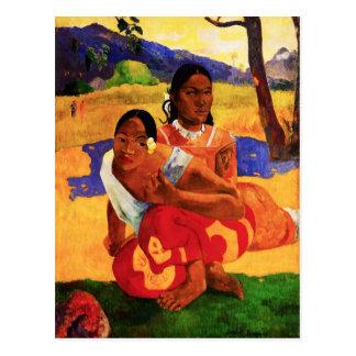 Gauguin, wenn Sie verheiratete Postkarte erhalten