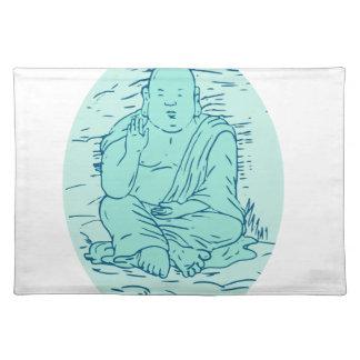 Gautama Buddha Lotos-Pose-Zeichnen Tischset