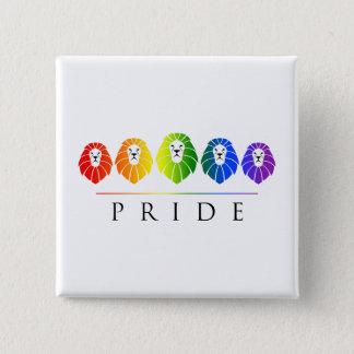 Gay Pride der Löwen - LGBT Quadratischer Button 5,1 Cm
