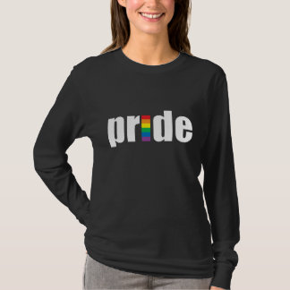 Gay Pride-dunkle Damen-lange Hülse T-Shirt