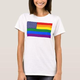 """""""GAY PRIDE-FLAGGE"""" DOPPELSEITIG T-Shirt"""
