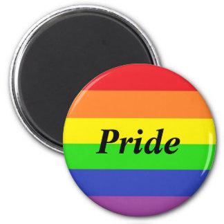 Gay Pride-Flaggen-Magnet rund Runder Magnet 5,7 Cm