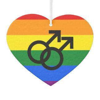 Gay Pride-Herz Autolufterfrischer