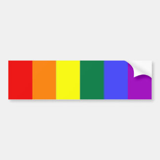 Gay Pride-Regenbogen-Flagge Autoaufkleber