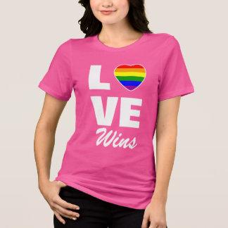 Gay Pride-Regenbogen-Flaggen-Herz-Liebe-Gewinne T-Shirt