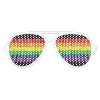 Gay Pride-Regenbogen-Sonnenbrillen Partybrille
