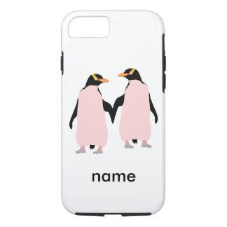 Gay Pridelesbische Penguins, die Hände halten iPhone 8/7 Hülle