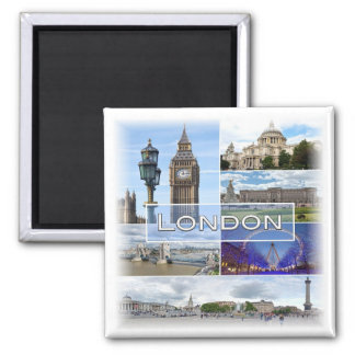 GB * England - London Quadratischer Magnet