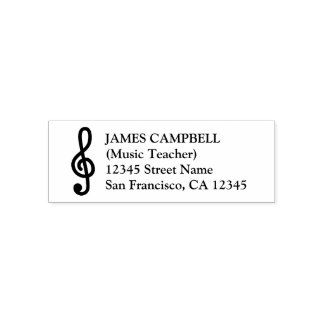 Gclef-Musiklehrerselbst, der Adressen-Briefmarken Permastempel
