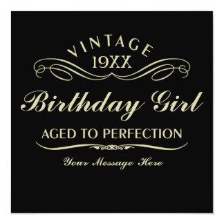 Gealtert zum Perfektions-lustigen Geburtstag Quadratische 13,3 Cm Einladungskarte
