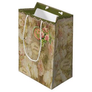 Gealterte verblaßte viktorianische Rose - Mittlere Geschenktüte