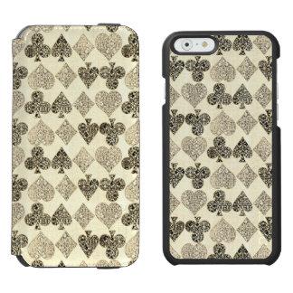 Gealterter Antiqued beige Incipio Watson™ iPhone 6 Geldbörsen Hülle