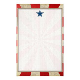 Gealterter Ruhm - Rot, Weiß und Blau Briefpapier