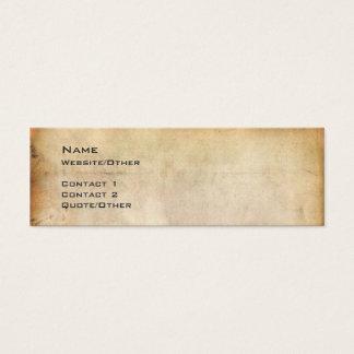 Gealtertes Papier Mini Visitenkarte