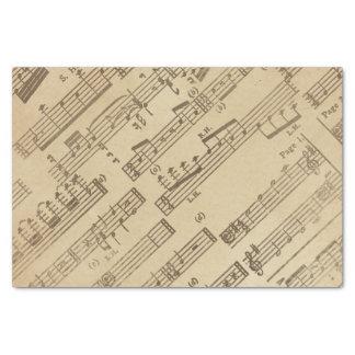 Gealtertes Vintages Musik-Blatt-Papier Seidenpapier