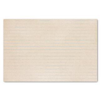 Gealtertes Vintages Notizbuch-Papier Seidenpapier