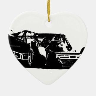 Geändert Keramik Herz-Ornament