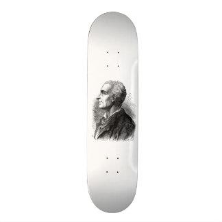 Geätztes Porträt von Montesquieu durch Emile Personalisierte Skatedecks