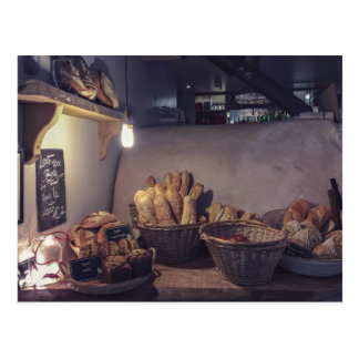 Gebäck-Themed, Vintage Bäckerei und Postkarte