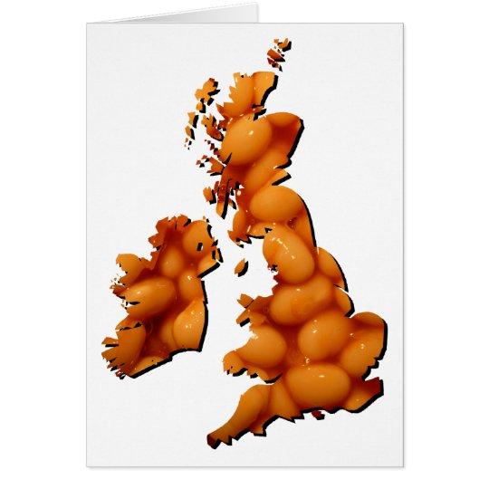 Gebackene Bohne Großbritannien Karte