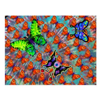 Gebatikte Schmetterlings-Postkarte Postkarte