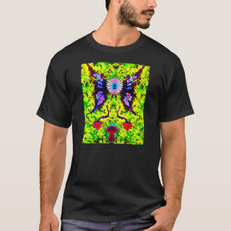 Gebatikter Fliegen-Augapfel Druck, T-Shirt