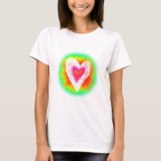 Gebatiktes Herz T-Shirt