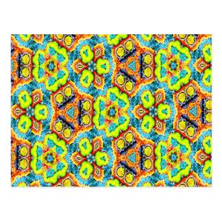 Gebatiktes Kaleidoskop Postkarte