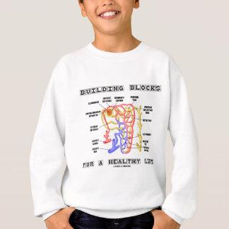 Gebäude-Blöcke für eine gesunde Leben-Niere Sweatshirt