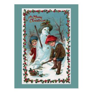 """""""Gebäude der Snowman"""" Vintag Postkarte"""