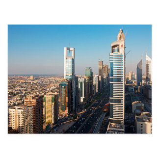 Gebäude entlang Scheich Zayed Road, Dubai Postkarte