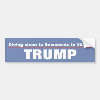Geben den Demokraten in 20/20 Trumpf von Vision Autoaufkleber