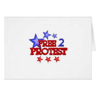 Geben Sie 2 frei, die Protest auf 30 Einzelteilen  Grußkarte
