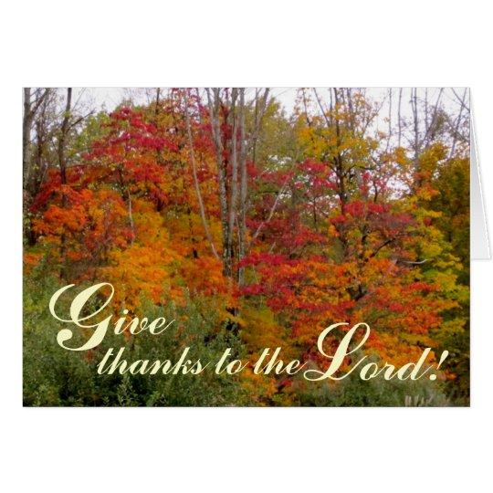 Geben Sie Dank des Lords - christliche Gruß-Karte Grußkarte