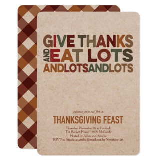Give Thanks - Thanksgiving Invitation