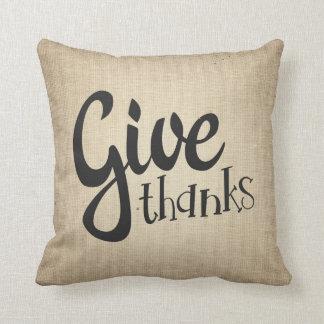 Geben Sie Dank-Erntedank-Fall-Herbst-Couch-Kissen Kissen