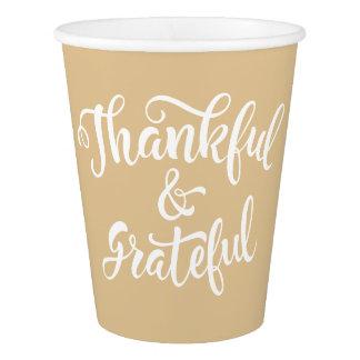 Geben Sie Dank. Familien-Erntedank-Feier Pappbecher