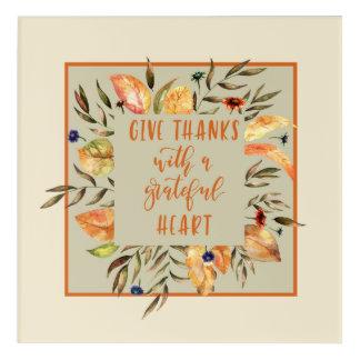 Geben Sie Dank - Herbst-Kranz Acryic Kunst