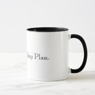 Geben Sie die Ersatzplan-Tasse mit einem Graben um Tasse