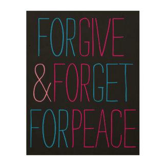 Geben Sie für Frieden Holzleinwand