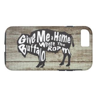 Geben Sie mir ein Zuhause, in dem Büffel iPhone iPhone 8/7 Hülle