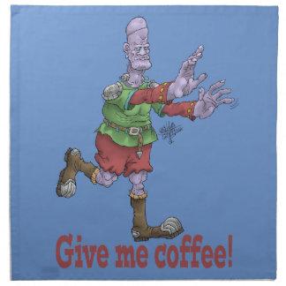 Geben Sie mir Kaffee! Serviette