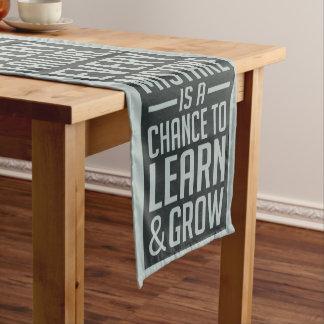 GEBEN Sie NIE motivierend Tabellenläufer auf Kurzer Tischläufer