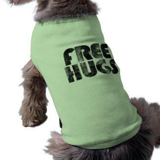 Geben Sie Umarmungen frei Ärmelfreies Hunde-Shirt
