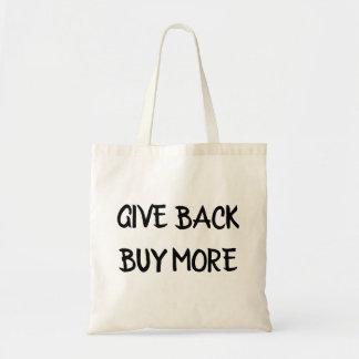 Geben Sie zurück Kauf mehr Tragetasche