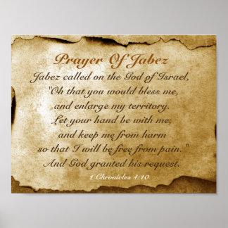Gebet von Jabez 1 Chronik-4:10 Bibel Poster