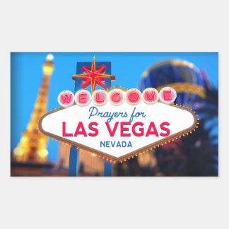 Gebete für Las Vegas-Aufkleber Rechteckiger Aufkleber