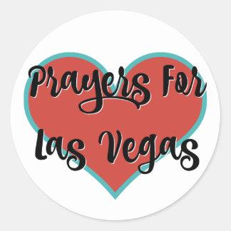 Gebete für Las Vegas-Tribut-Aufkleber Runder Aufkleber